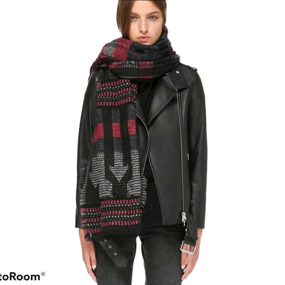 Mackage Accessories - Mackage Cotton ARO Unisex Long Jacquard Scarf